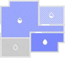 Roborock S5 Max - Wasserfluss pro Raum